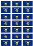 Montana Flag Stickers - 21 per sheet